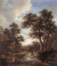 Jacob Isaacksz. van Ruisdael - Sunrise in a Wood - WGA20504.jpg