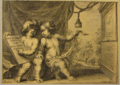 Jacob Neefs, Philip Fruytiers - Two sitting putti studying time.tiff