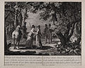 Jacobite broadside - Prince Charles Edward Stuart dressed as a lady after his flight from Culloden.jpg