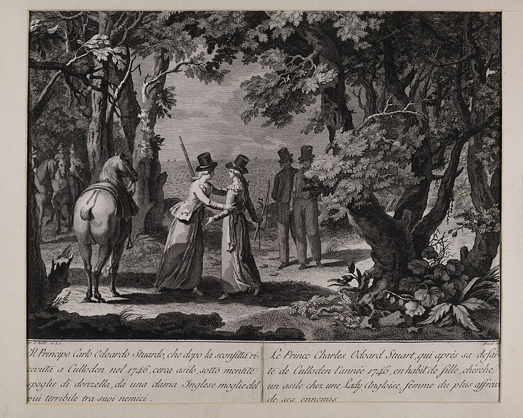 File:Jacobite broadside - Prince Charles Edward Stuart dressed as a lady after his flight from Culloden.jpg