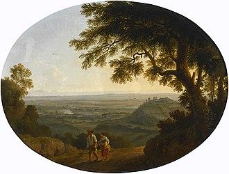 Jacob Philipp Hackert - Image: Jakob Philipp Hackert Ansicht der Albaner Berge (1772)