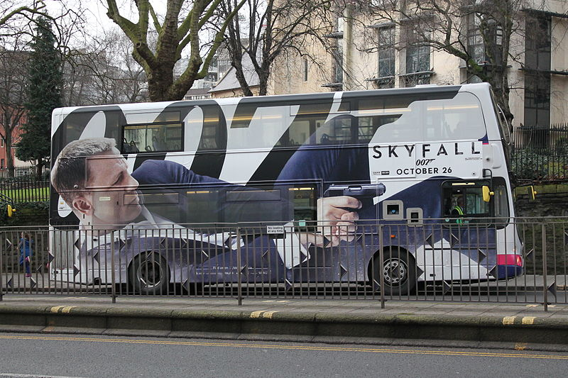File:James Bond Skyfall bus, Bristol (8485992713).jpg