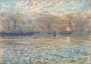 James Nairn - Image: James M. Nairn Winter morning, Wellington Harbour Google Art Project