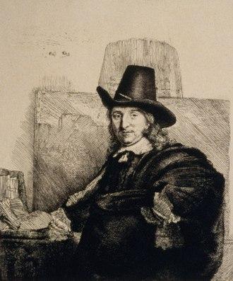 Jan Asselijn - Portrait of Jan Asselijn by Rembrandt, 1647