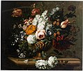 Jan Baptist Bosschaert - Flowers in a neoclassical sculptured vase with a butterfly.jpg