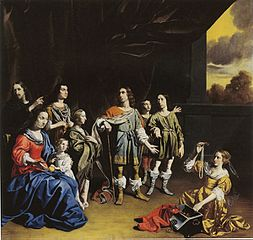 Family Group as Cornelia, Mother of the Gracchi, Showing Her Children - c.1635