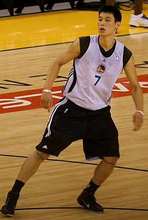 Jeremy Lin - Lin at Warriors practice in 2010