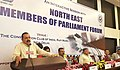 Jitendra Singh addressing an interactive meet of the Members of Parliament from Northeast, in New Delhi.jpg