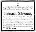Johann Strauss (1825–1899) Todesanzeige death notice.jpg