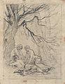 Johannot T.attr. - Pencil - Trois jeunes-femmes demi-nues - 26x34cm.jpg