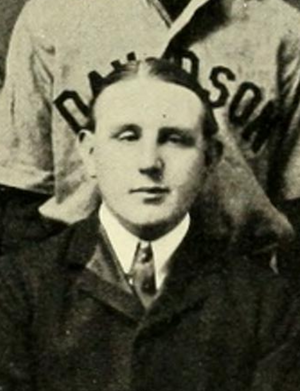 John A. Brewin - Brewin pictured with the Davidson baseball team, circa 1903
