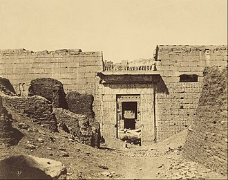 Medinet Habu (temple) - One of John Beasley Greene's set of the earliest photos of the temple, showing the Second Pylon