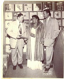 John Dolphin and Billie Holiday at Dolphin's Of Hollywood