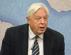 John Simpson (journalist) - Simpson at Chatham House, April 2015