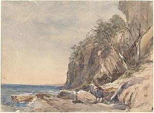 John Skinner Prout - Image: John Skinner Prout, The Derwent Crags, Hobarton, Decr.9, '46