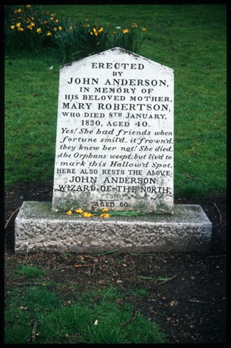 John Henry Anderson - Aberdeen, Scotland: The Grave of John Henry Anderson a.k.a. The Wizard Of The North