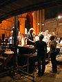 Jordi Savall i Hesperion XXI assajant a l'església del Monestir de Poblet P1250131.jpg