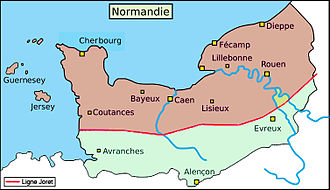 Joret line - The Joret line in Normandy