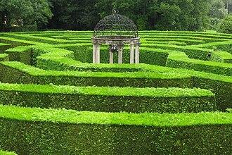 Hedge maze - The octagonal Jubilee Maze at Symonds Yat
