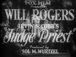 Judge Priest is a 1934 American comedy film starring Will Rogers.jpg