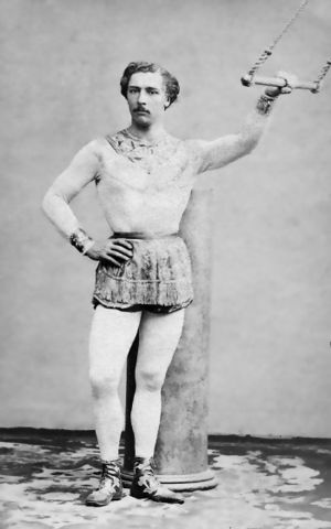 Alhambra Theatre -  Jules Léotard, The Daring Young Man on the Flying Trapeze, performed his aerial act at the Alhambra.