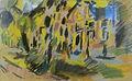 Jules Schmalzigaug Met bomen omzoomde gracht ca. 1915.JPG