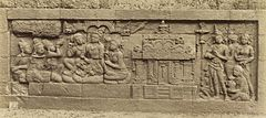 KITLV 40079 - Kassian Céphas - Relief of the hidden base of Borobudur - 1890-1891.jpg