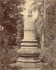 KITLV 87803 - Isidore van Kinsbergen - Stupa from Tjoepoewatoe transferred to Yogyakarta - Before 1900.tif