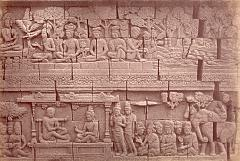KITLV 90028 - Isidore van Kinsbergen - Reliefs on the Borobudur near Magelang - Around 1900.tif