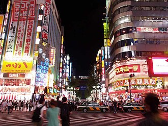 Enter the Void - Kabukichō's Central Road at night in October 2007