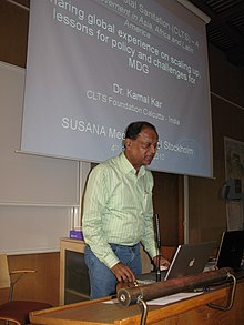 Kamal Kar at 12th SuSanA Meeting (in Stockholm prior to World Water Week)