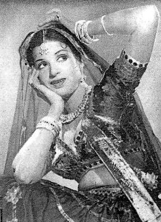 Kamini Kaushal - Kamini Kaushal in 1950 Hindi film Arzoo
