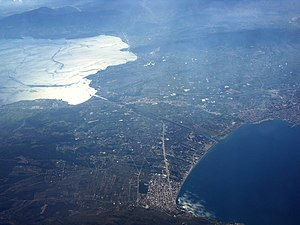 Isthmus of Corinth - Aerial photography of the isthmus of Corinth.