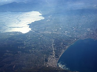 Isthmus of Corinth - Aerial photograph of the isthmus of Corinth
