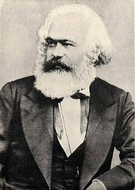 A photo of Karl Marx from a book owned by communist revolutionary, Vladimir Lenin.