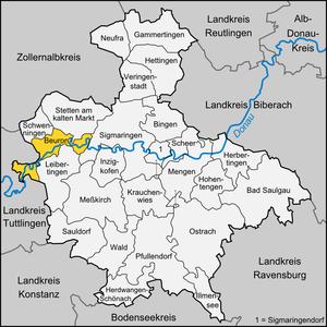 Beuron - Image: Karte Beuron