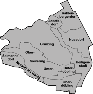 Döbling - Döbling map of district sectors