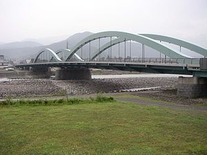 Kuzuryū River - The Kuzuryū River flowing beneath Katsuyama Bridge in Fukui