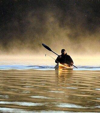 Kayak fishing - Kayak Fishing at Okmulgee Lake, Oklahoma