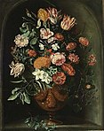 Kessel, Peter - A still life with tulips in a stone niche.jpg