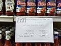 Ketchup prices at Venezuela supermarket.jpg