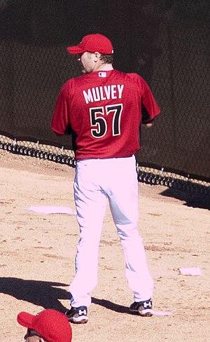 Kevin Mulvey - Mulvey warming up for the Arizona Diamondbacks