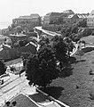 Kilátás a Halászbástyáról, előtérben a Jezsuita lépcső és a Hunyadi János út. Fortepan 27414.jpg
