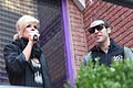 Kimberly Caldwell, Pete Wentz at Yahoo Yodel 2.jpg