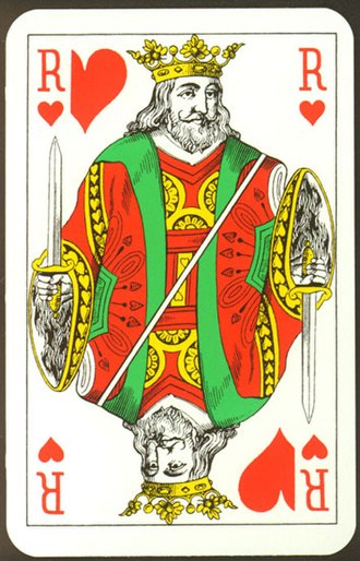 French playing cards - Belgian pattern king of hearts
