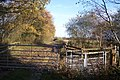 Kissing Gate on a muddy path near Winterbourne Wood - geograph.org.uk - 1583948.jpg