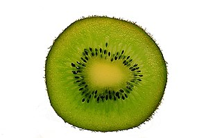 Kiwifruit - A sliced kiwifruit
