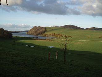Lough Derravaragh - Lough Derravarragh, with Knockeyon hill to the right