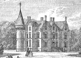 Knuthenborg - Knuthenborg c. 1870, drawing by J.P. Trap