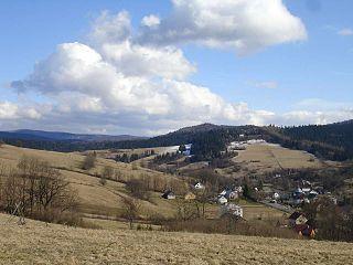 Komańcza village in Subcarpathian Voivodeship, Poland